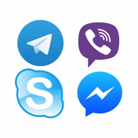 Поддержка через мессенджеры: Telegram, Viber, Facebook, Skype